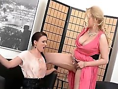 Surprised honey in lingerie is geeting peed on and pounded