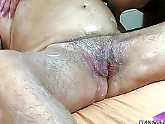 Dirty blonde mature woman gets horny