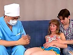 Dude assists with hymen physical and drilling of virgin girl