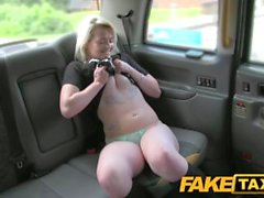 FakeTaxi Scottish lass rides big cock