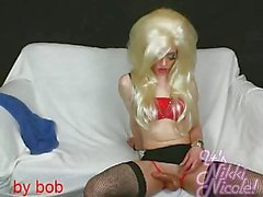 Nikki Nicole is a hot blonde crossdresser