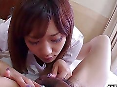 Asian whore has a fat dick buried deep during the