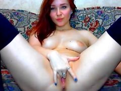 Fetish redhead toys her pussy in hot hi definition solo