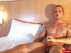 Real str8 dude's dick massage! (my coach seduced for gay porn)