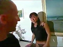 Pigtailed brunette is unexpectedly fucked hard and rough