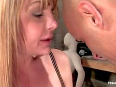 Shemale Danielle Foxxx throat fuck compilation