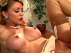 Monique Alexander gets her fake Tits fucked by co worker