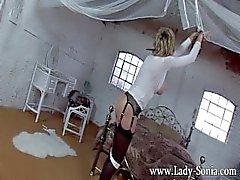 Mistress Lady Sonia bondage and teased to orgasms