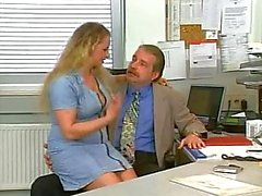 Hot mature secretary fucked by older guy