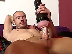 Horny twink steven sperms on pantyhose in solo