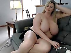BBW relax at home after fuck at work