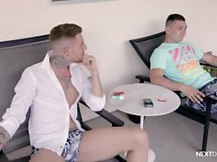 NextDoorRaw Straight Jock Convinced To Get Bareback Dick
