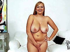 Chubby Sara Willis with all natural boobs