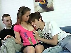 Fat rod for awesome teen pussy