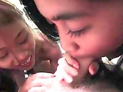 Hot Filipina Whores Maya and Lai Suck Cock