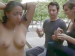 Hot siren receives a excruciating group torment