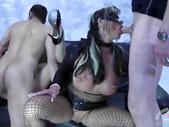 CumBitch Jessy internal cumshot mass ejaculation group sex with Emma Starr 3