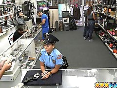 Fucking Sexy Police Officer In My Pawnshop