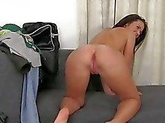 Hot sextoy play before raucous pussy drilling