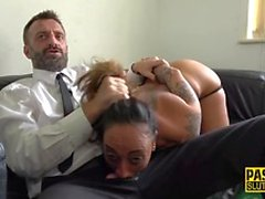 Throated submissive gags lots