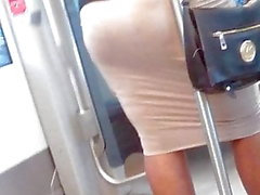 candid ass on the train