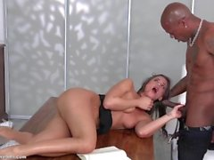 Black Little Caprice get fucked first time from a big Black Cock