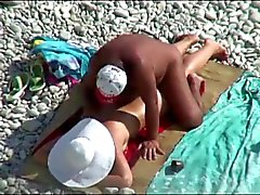 Couple caught on beach, hidden cam