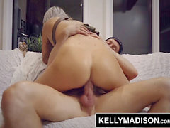 KELLY MADISON - firm assfuck screwing and Creampies Make Aspen Ora Sweat