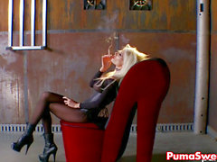 Puma Swede Gets filthy in Warehouse!