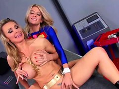 Superwoman and catwoman have some fun