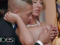 Classy teen Brett Rossi may be dressed for the ball but she still - BABES