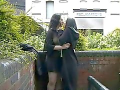 Public lesbians get naked in the streets of Britain
