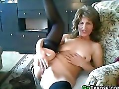 Granny Gets Naked And Masturbates