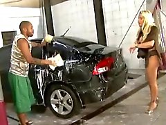 Busty Brazilian chick gets fucked at the car wash