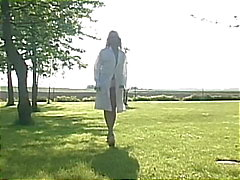 Nurse maneuvered by patient outdoors