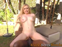 Blonde facialized by bbc