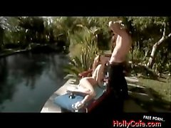 Jessica Drake and Evan Stone outdoors