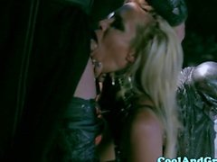 Jessica Drake gagging on cock