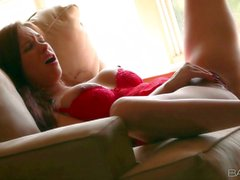 Sabrina Maree spends time playing with herself
