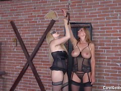 Angel Wicky punishes Carol Goldnerova