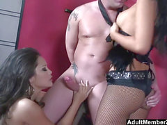 dominatrixes Asa Akira and Jessica Bangkok Have A threesome With successful Guy