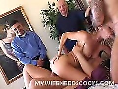 This clip features horny wife Mrs. Barber hooking up with