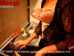 Hucow wife breast vacuum pumping