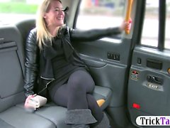 Naughty babe ass fucked by the driver for a free taxi fare