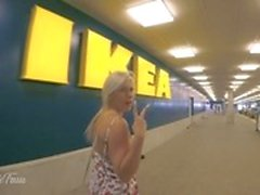 Very Risky PUBLIC 4K IKEA Shopping BLOWJOB, FUCK and CUM SWALLOW