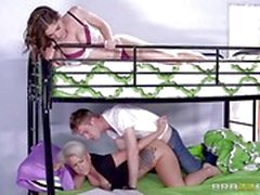 College threesome with Dylan Phoenix and Molly Jane