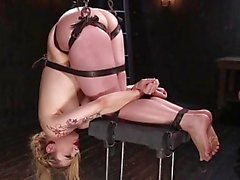 Gorgeous Blonde Suffers In Strict Bondage