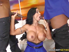 Jewels Jade is well-prepped For anal invasion fucky-fucky and DP With BBC