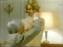 Old Man Jean Villroy gets a Blow Job From Maid...Wear-Tweed
