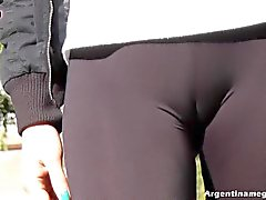 Wow! Another Public Cameltoe For the Hall of Fame! Round Ass